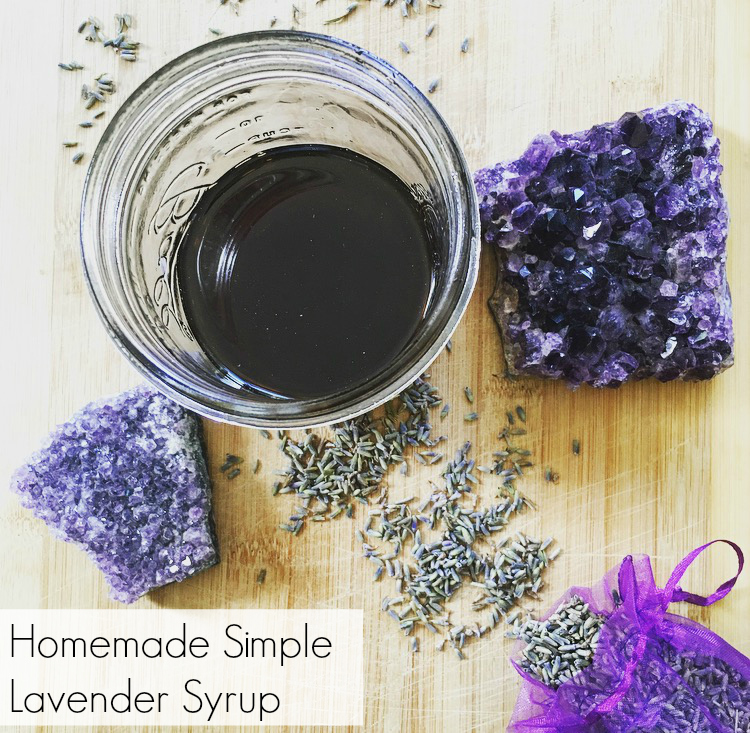 Homemade Lavender Simple Syrup | The Friendly Fig